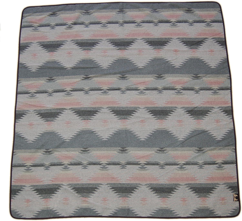 GRAU, 59x 54 Ruth/&Boaz Outdoor Wolle-Mischgewebe Decke Ethnic Inka-Muster M