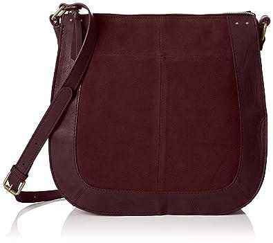 Pieces Suede Crossbody Bag Women red 14c2ESD4X