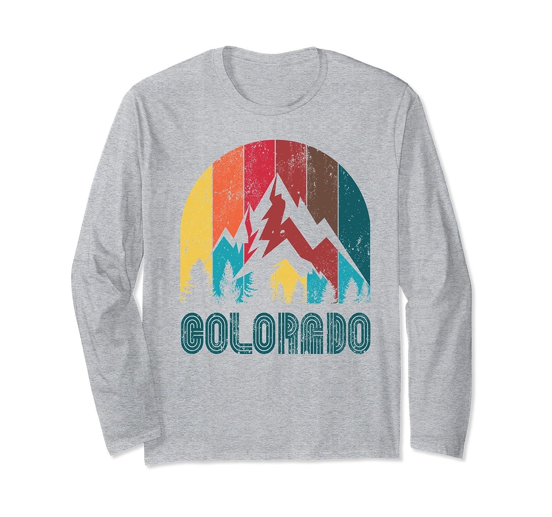 Retro Colorado Long Sleeve T Shirt for Men Women and Kids-SFL