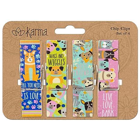 Amazon.com: Karma Gifts KA202522 Chip Clips, Perro: Souljazz ...