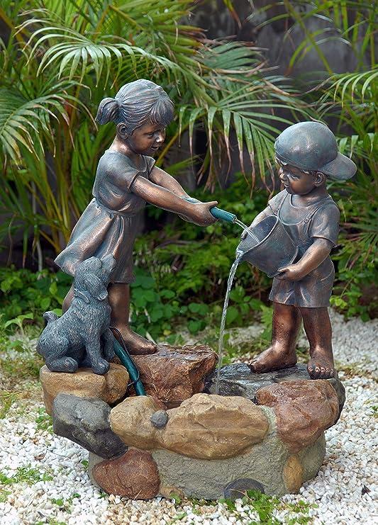 ACTIVA - Fuente de agua para niños, decoración de jardín, interior y exterior: Amazon.es: Jardín