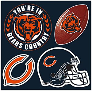 NFL Chicago Bears Chicago Bears 4-Piece Magnet Set, Navy,