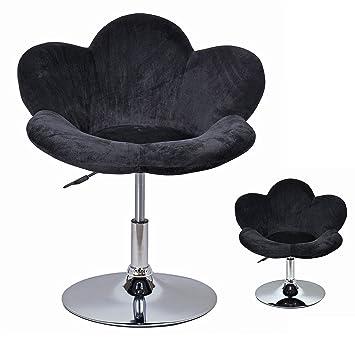 1x Tabouret Fauteuil Siege Assise Chaise Longue Fleur Noir Chaise Chaise Longue Design Pivotante D0