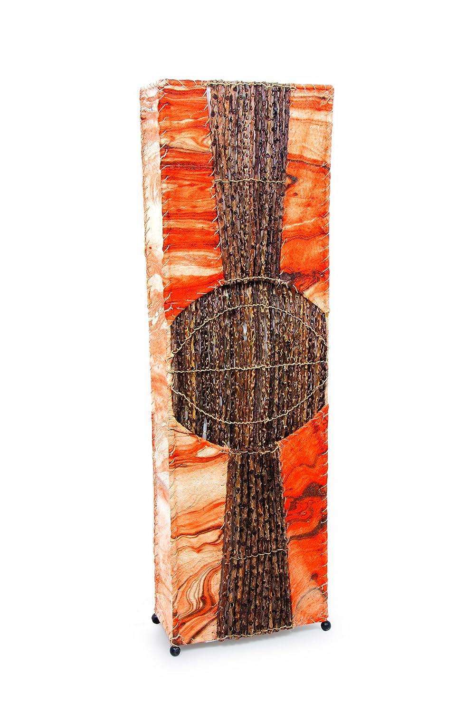 Deko-Leuchte ADIMA, Stehlampe aus Natur-Material, eckig, 100 oder 150 cm, Grösse  ca. 100 cm