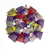 24 Small Mix Color Sachets Craft Bag with Dried