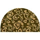 Imports Decor Half Round Vinyl Back Coir Doormat, Heart Swirls, 18-Inch by 30-Inch
