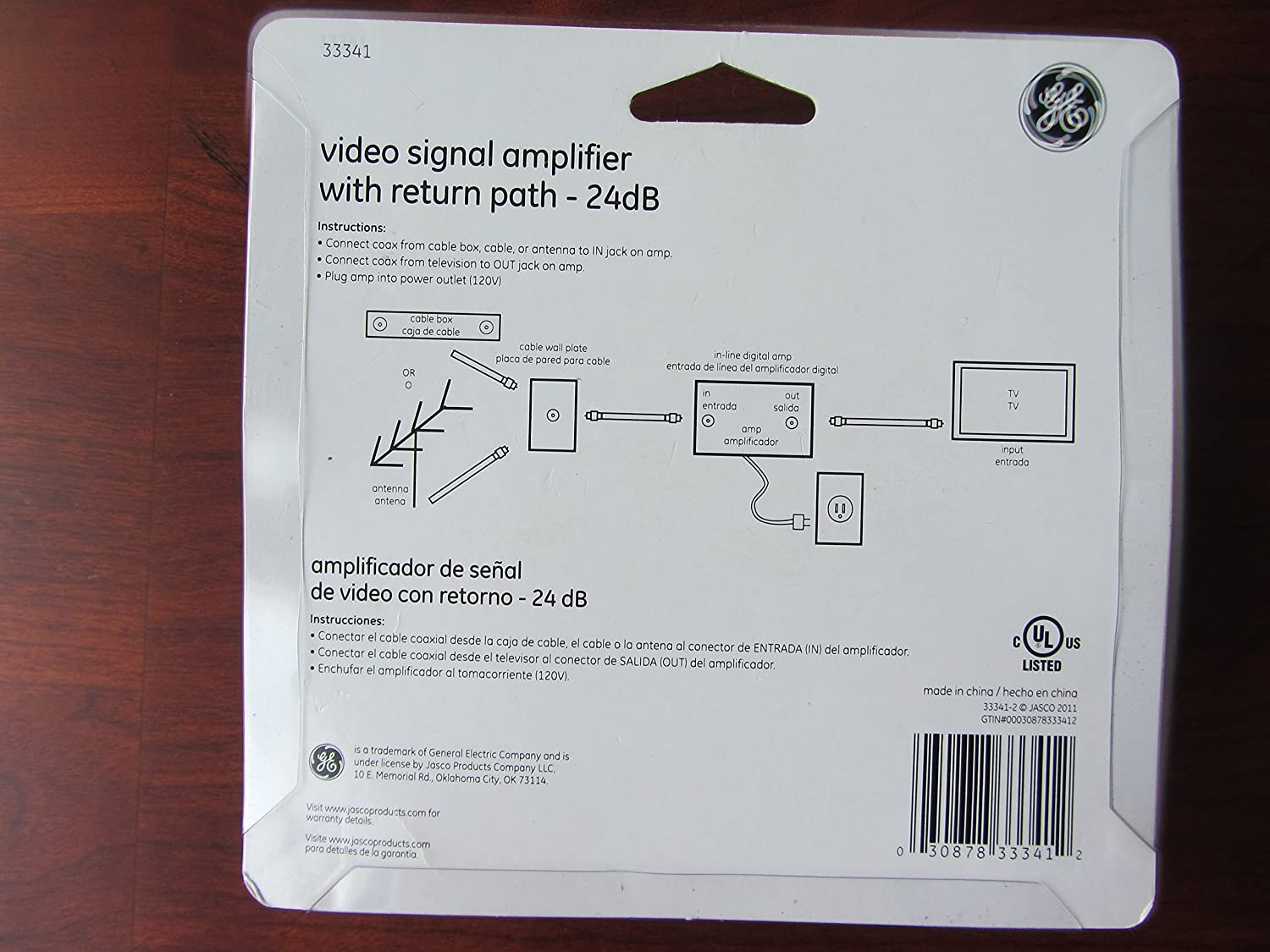 Amazon.com: GE Video Signal Amplifier With Return Path: Home Audio & Theater