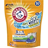 Arm & Hammer Plus OxiClean HE 3-in-1 Laundry Power Paks, 50 Count