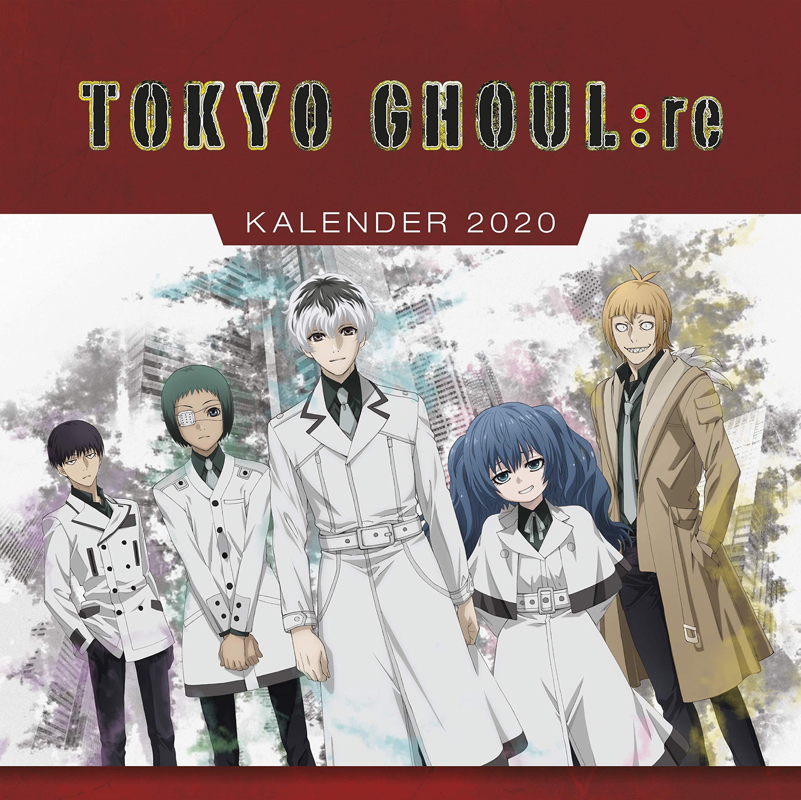 Tokyo Ghoul Re   Wandkalender 2020