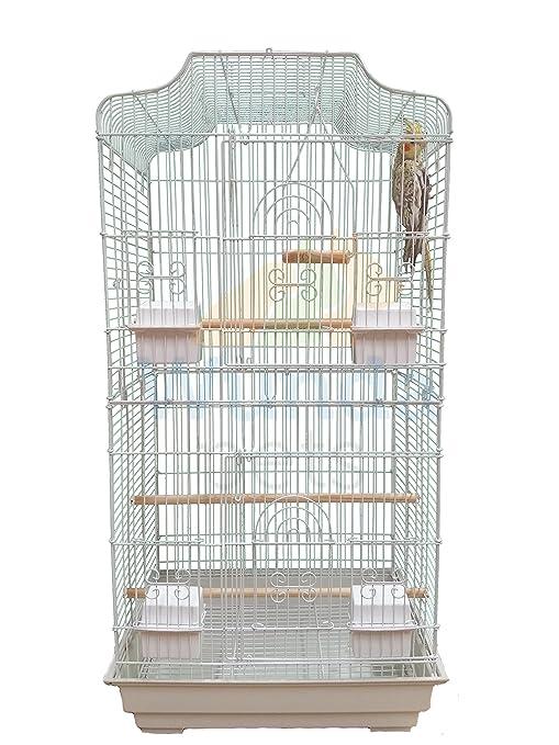Jaula XL para pájaros (periquitos, cacatúas, etc.), modelo Liberta ...