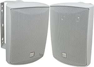 Dual Electronics LU53PW 5 ¼ inch 3-Way High Performance Indoor, Outdoor & Bookshelf Studio Monitor Speakers with Swivel Brackets & 125 Watts Peak Power (Sold in Pairs)