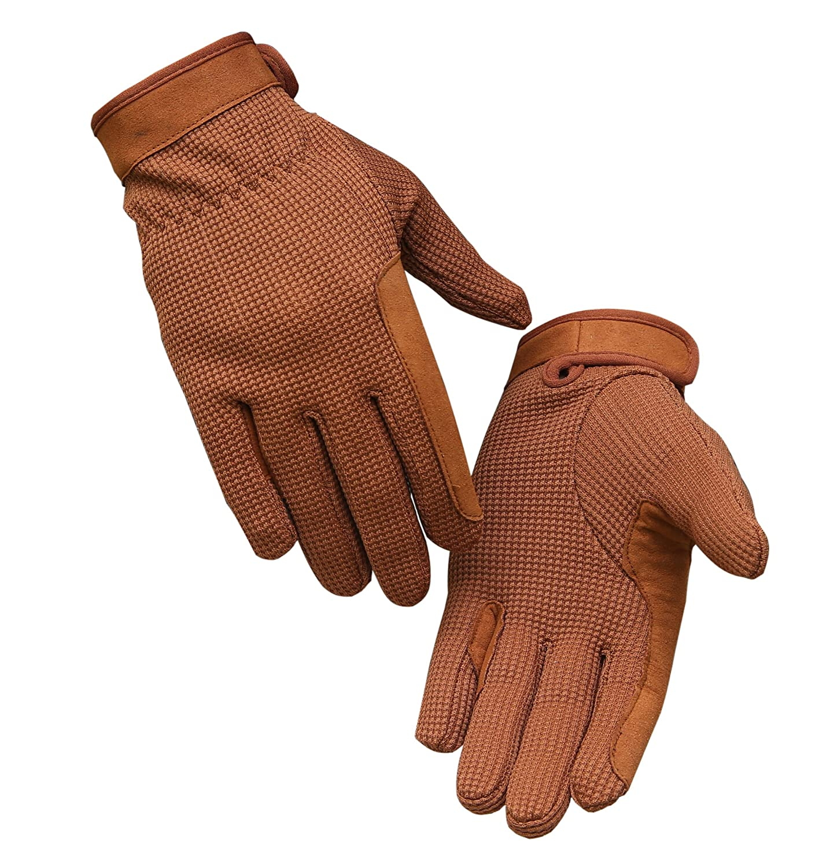 Muzi Horse Riding Gloves Crome Free