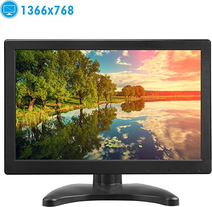 TOGUARD Pantalla 12 Pulgadas PC Monitor Full HD TFT LCD 1366x768 Entrada HDMI VGA Mic 160 Grados con Doble Altavoz: Amazon.es: Electrónica