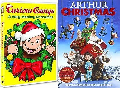 curious george dvd arthur christmas operation santa clause holiday movie set - Arthur Christmas Dvd