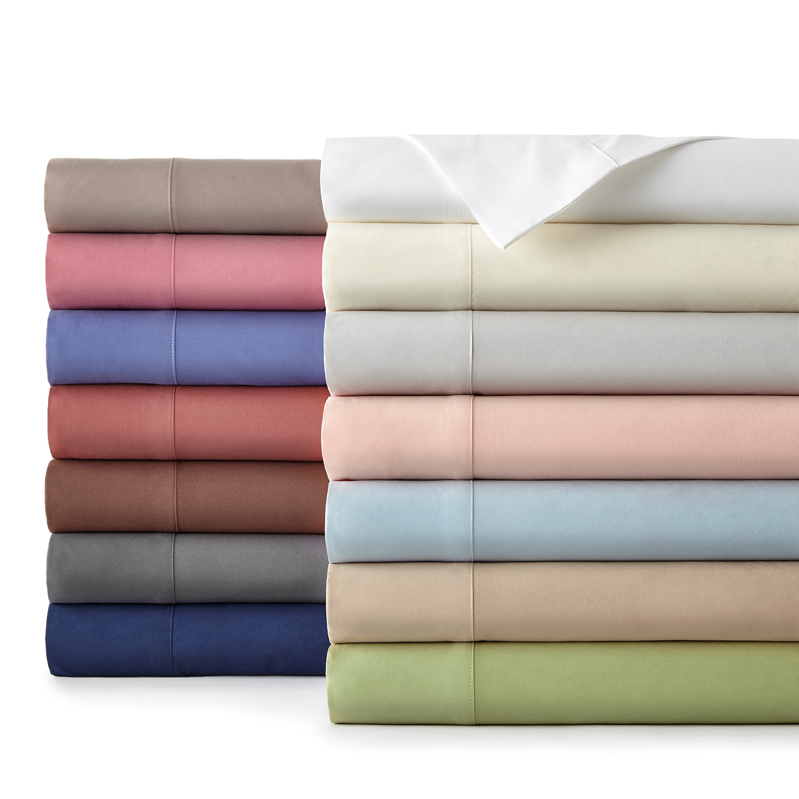 Southshore Essentials - 6 Piece Brushed Microfiber Sheet Set, Hint of Green, Queen by Southshore Fine Living, Inc. (Image #2)