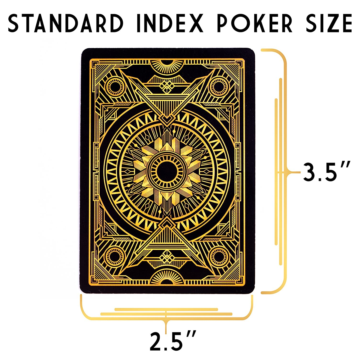 Black Playing Cards /& Gold Accents Brybelly 6 Decks Blind Tiger Prohibition /& Speakeasy Themed Playing Cards Standard Index Plastic-Coated 310gsm Black Core Custom Card Deck Poker Size Brybelly Holdings Inc.