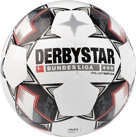 timeless design 0241b bce94 Derbystar Bundesliga Replica Match Soccer Ball, Size 5, White