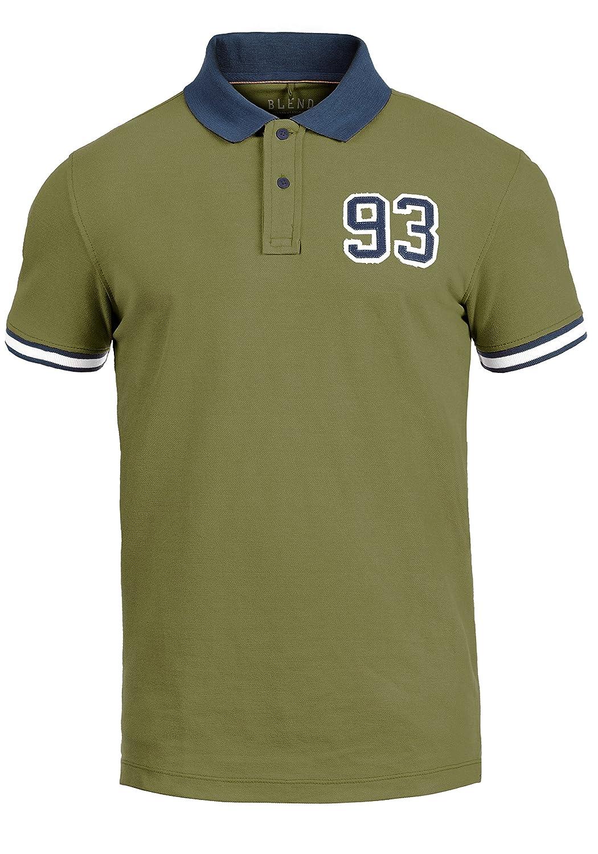Blend Gregor Maglietta T-Shirt Polo A Manica Corta da Uomo in Cotone 100/%