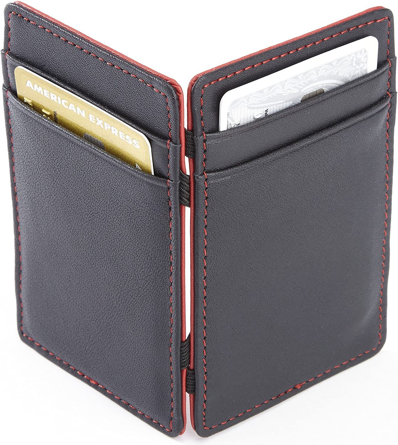 Purple EMPORIUM LEATHER 117-PURPLE-5 Royce Leather Magic Wallet in Leather DBA Royce Leather