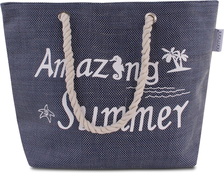 normani Strandtasche Schultertasche Handtasche Umh/ängetasche mit Sommer Design und gro/ßem Volumen