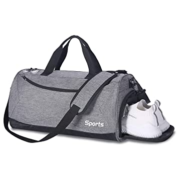 3c447b570936 Packable Sports Gym Bag with Wet Pocket   Shoes Compartment Travel Duffel  Bag for Men and