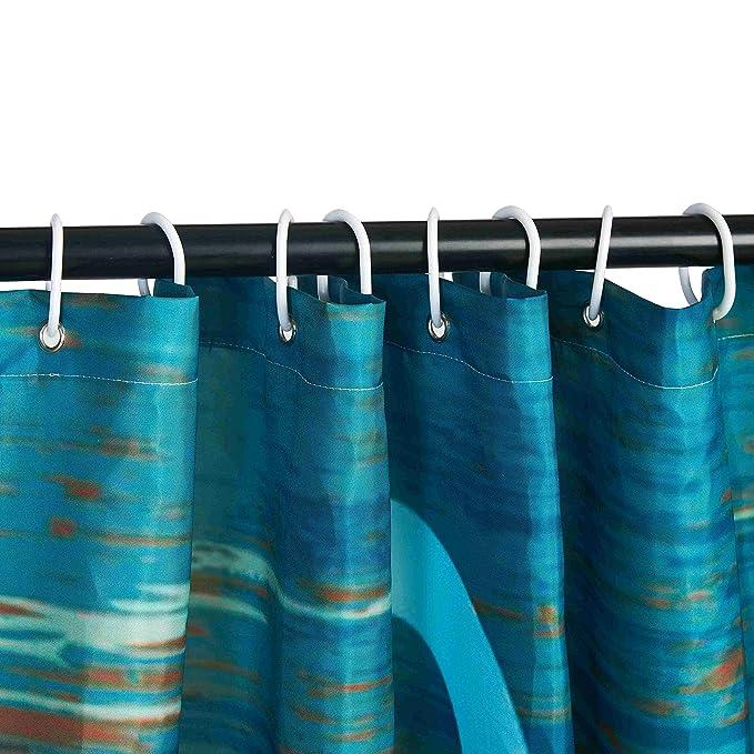 Amazon.com: Beddinginn cortina de regadera 3D de tela ...