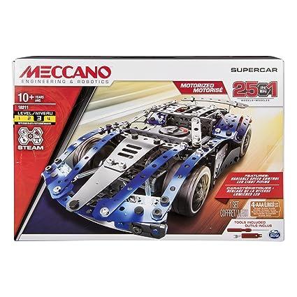 Amazon Com Meccano By Erector 25 Model Supercar Stem Building Kit