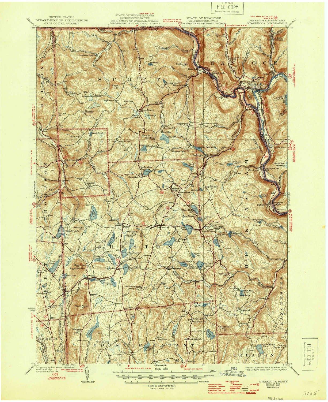 Amazon Com Yellowmaps Starrucca Pa Topo Map 1 62500 Scale 15 X 15