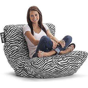 Amazon Com Big Joe Roma Chair Zebra Kitchen Amp Dining