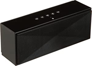 AmazonBasics Wireless Bluetooth Dual 3W Speaker with Built-in Microphone - Black