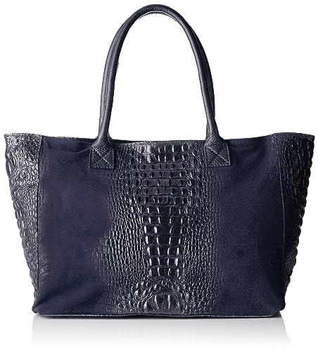 Chicca borse 80042, Sacs portés main femme, Blu, 53x30x16 cm (W x H L)