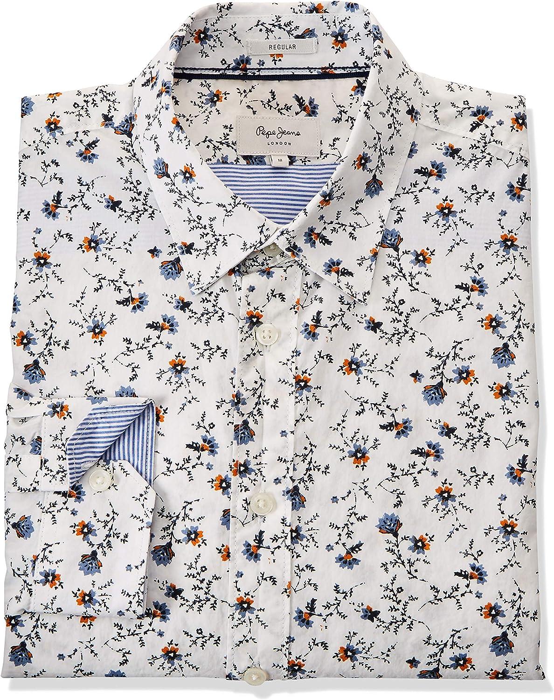 Pepe Jeans Camisa Hombre Heath XL Blanco: Amazon.es: Ropa y accesorios