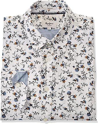 Pepe Jeans Camisa Heath Blanco Hombre: Amazon.es: Ropa y accesorios