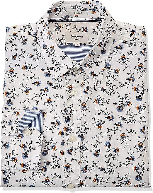 Pepe Jeans Camisa Heath Blanco Hombre