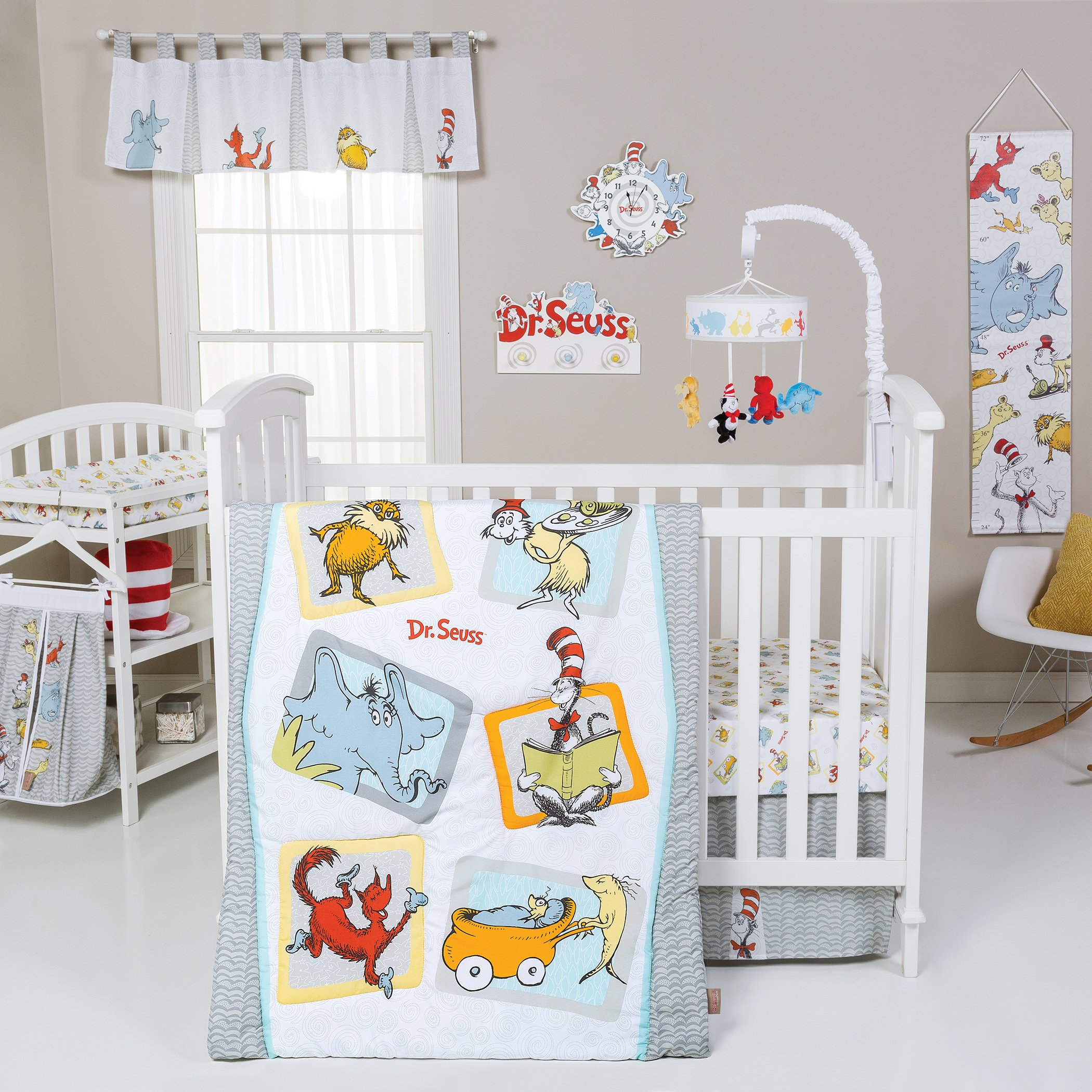 Trend Lab Dr. Seuss Friends 5 Piece Crib Bedding Set, Multi