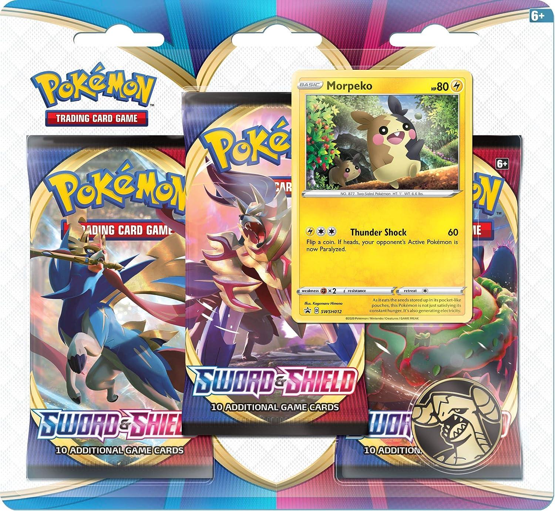 Pokemon TCG: Espada y Escudo 3 Pack Booster (uno al azar) (172-80655) , color/modelo surtido: Amazon.es: Juguetes y juegos