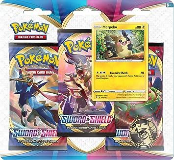 Pokemon TCG: Espada y Escudo 3 Pack Booster (uno al azar) (172 ...