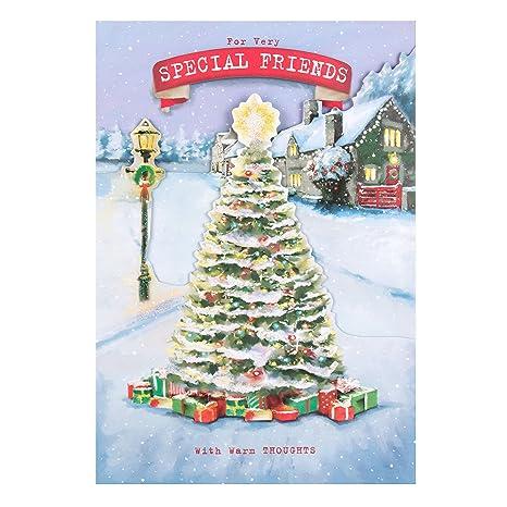 Buon Natale 118.Hallmark Biglietto Di Buon Natale Per Amico Dimensioni Medie