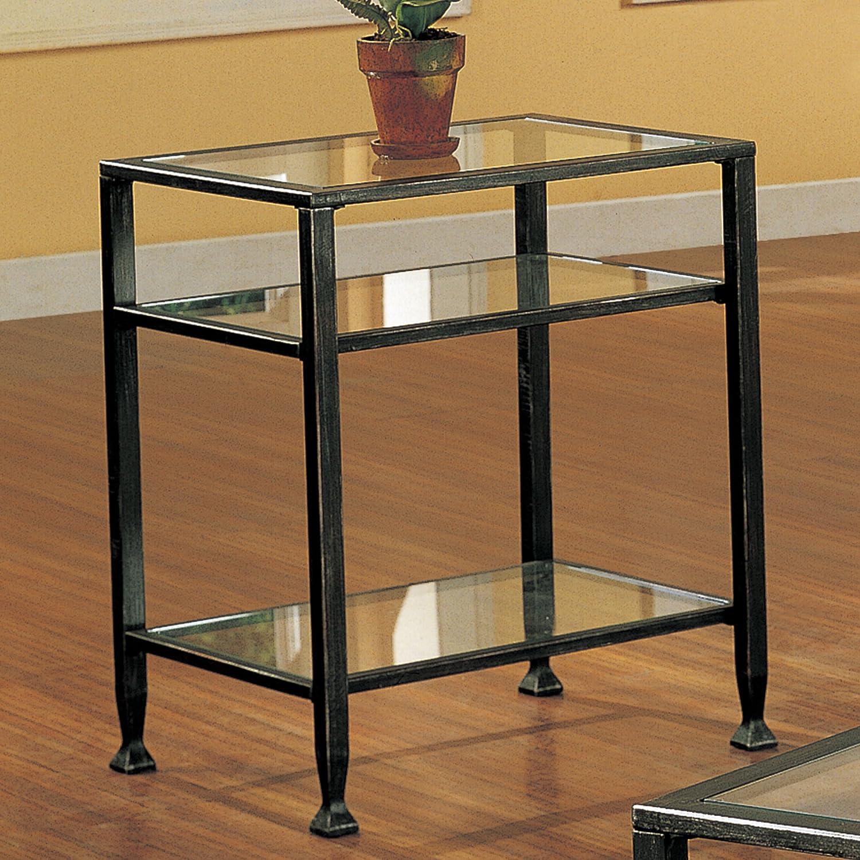 Amazon Southern Enterprises Bunching Glass Side End Table