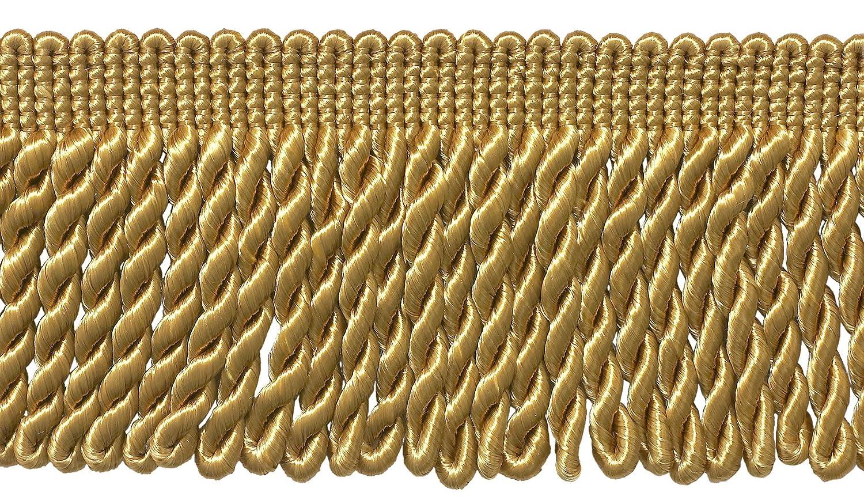 D/ÉCOPRO 7 Yard Pack 21 Ft // 6.4M 3 Inch Long Gold Bullion Fringe Trim Style# BFS3 Color: C4