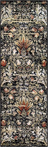 Superior Designer Braxton Area Rug Collection, Gorgeous Floral Lotus Pattern, 6mm Pile Height with Jute Backing, Affordable and Beautiful Rugs – 2 7 x 8