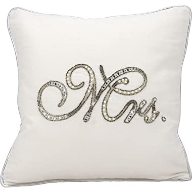 Kathy Ireland Worldwide Kathy Ireland E6318 White Decorative Pillow by Nourison, 14  X 14