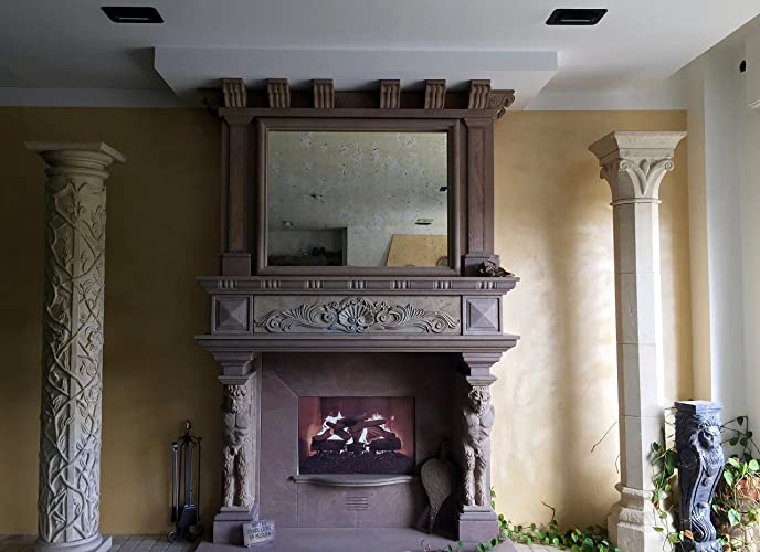 Rivestimento In Pietra Camino : Cornice rivestimento classico caminetto in pietra amazon handmade