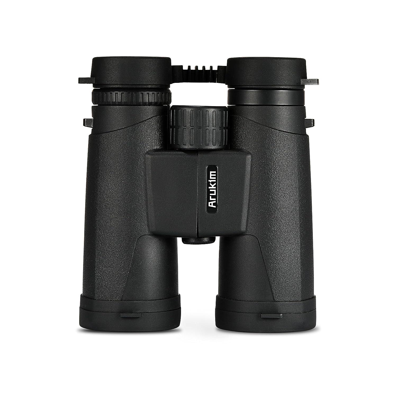 12 x 42双眼鏡for Adults、コンパクト双眼折り畳み旅行アウトドアスポーツ双眼鏡Stargazing For Bird Watchingハイキングスポーツゲームコンサート、HD wide-fieldレンズ(ブラック)携帯ケース B07B3RD4X4