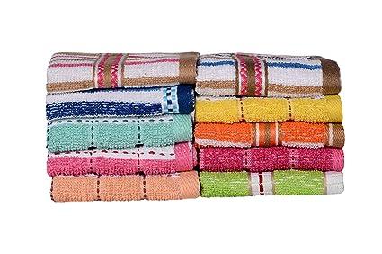 Paquete de 10trapos de cocina / toalla para rostro de Casa Basics en colores