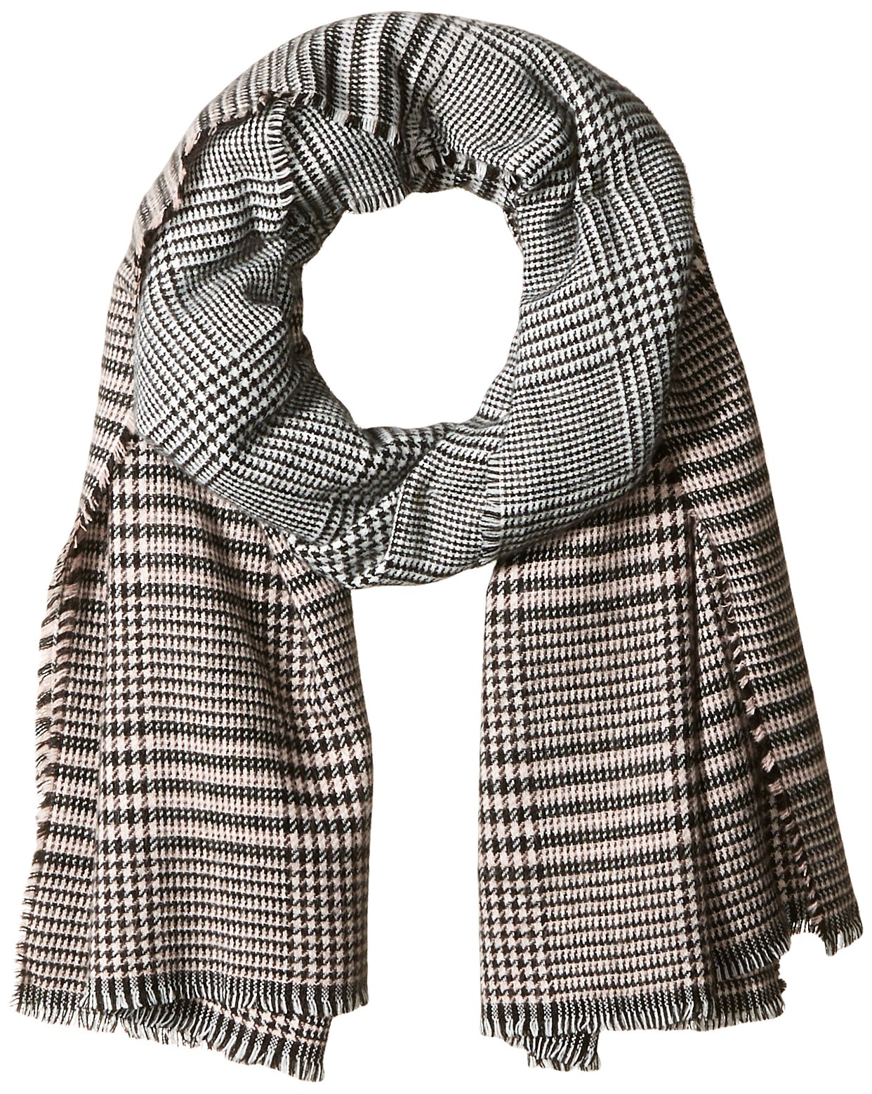 Orchid Row Women's Ombre Grid Wool Effect Cold Weather Scarf Blush O/S