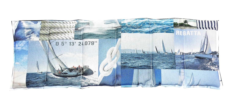 Körnerkissen Dinkelkissen Wärmekissen Maritim Segeln ca. 60x20 mit Schutzengel Schlüsselanhänger Kissenscheune