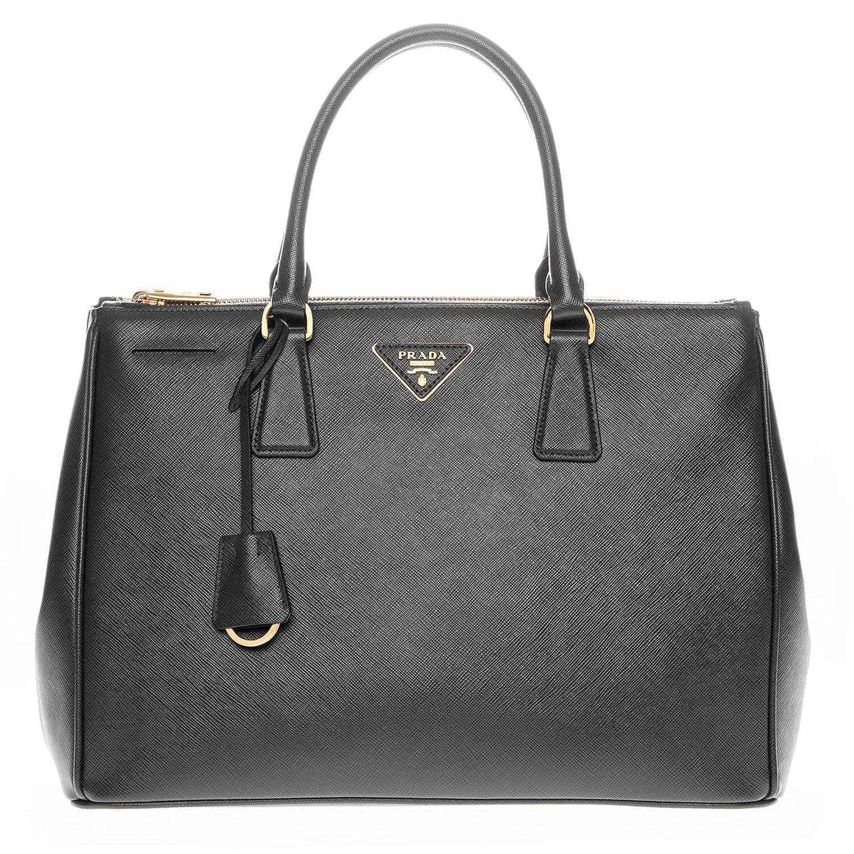 5ca3749418555e ... official amazon prada womens saffiano lux executive tote bag black  clothing 0e3f0 3a404