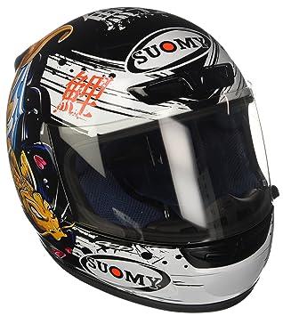 Suomy ksap0027.2 Casco Moto, Negro y oro, XS