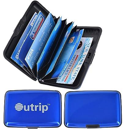 outrip acollador de tarjeta RFID bloqueo de aluminio delgado ...